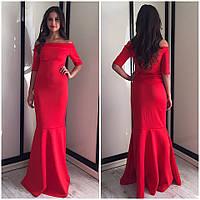 Женское вечернее платье в пол красное