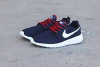 Подростковые кроссовки Nike Roshe Run сетка,синие