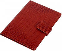 Шикарная кожаная обложка для паспорта и документов Vip Collection 109C croc коньячный