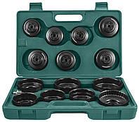 Комплект чашек для демонтажа масляных фильтров 65-100 мм, 14 предметов JONNESWAY (AI050004)