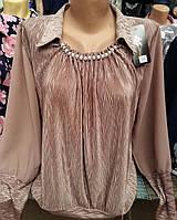Стильная шифоновая блуза увеличенного размера