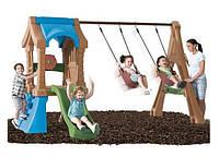 Детская площадка Башня с качелями и горкой 7973
