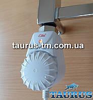 """Белый электроТЭН Eliko с механическим регулятором температуры в полотенцесушитель. Польша, резьба 1/2"""""""