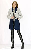 Модное двухцветное кашемировое пальто