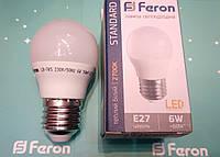 Светодиодная лампа Feron LB-745 E27 6W 2700K  для общего и декоративного освещения