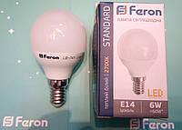 Светодиодная лампа Feron LB-745 E14 6W 2700K  для общего и декоративного освещения
