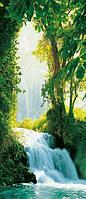 Фотообои бумажные на дверь 86х200 см 1 лист: природа, Сарагоский водопад