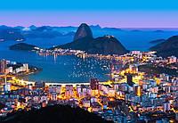 Фотообои флизелиновые на стену 366х254 см 8 листов: город Рио-де-Жанейро