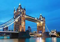 Фотообои флизелиновые на стену 366х254 см 8 листов: город Лондон -Тауэрский мост