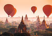 Фотообои флизелиновые на стену 366х254 см 8 листов: Воздушные шары над Паганом