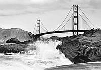 Фотообои флизелиновые на стену 366х254 см 8 листов: Мост Золотые Ворота