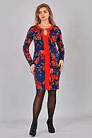 Нарядное платье в розы 073 (Д.И.В.) размеры 44,46,48,50,52