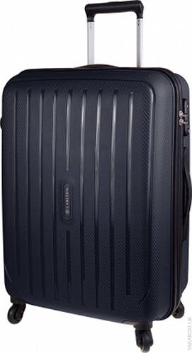 Интересный дорожный 4-х колесный чемодан 60 л CARLTON Phoenix 239J465;01 черный