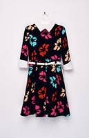 Платье нарядное синее для девочек 128-146 рост
