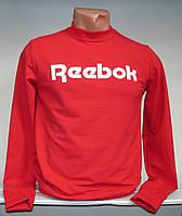 Мужская толстовка с надписью Reebok красного цвета