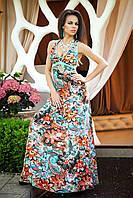 Яркое нарядное летнее платье в пол