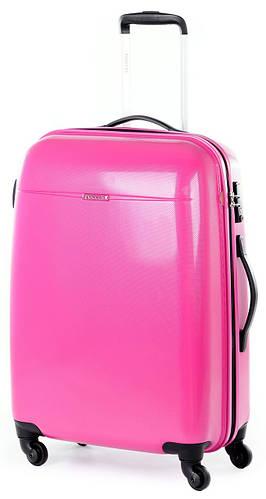 4-колесный дорожный чемодан из пластика 94 л. Puccini PС-005, 6834/33 розовый
