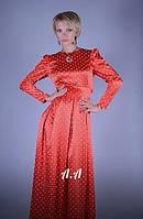 Стильное платье MILLEN Стрейч атлас С М  Длина 165см