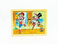 Развивающий пазл для ребенка «Любимые мультфильмы» (деревянный, средний)