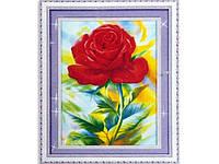 Набор для изготовления картины со стразами 5D Роза  52*70 см Код 198266