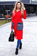 Женское пальто карманы мех