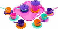 Набор игрушечной посуды Ромашка с подносом 26 элементов