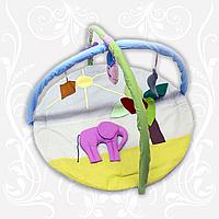 Коврик детский игровой Слон с дугами и подвесными игрушками