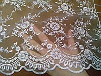 """Свадебный шарф для обряда """"снятия фаты"""" (№ 2, белый)"""