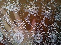 """Свадебный шарф для обряда """"снятия фаты"""" (№ 3, белый)"""