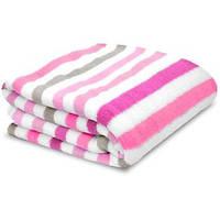 Теплый плед Pink Stripe от Little Starter 76х102 см