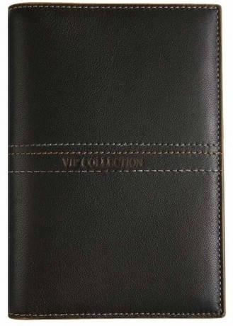 Великолепная кожаная обложка для паспорта Vip Collection 19В NL коричневый