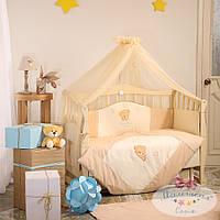 Детский комплект постельного белья Тiny Love шоколадный 7 предметов