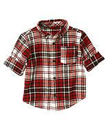 Фланелевая рубашка для мальчика 12-18 месяцев