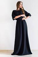 Платье женское в пол Лео черное , летние платья