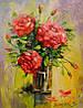 «Букет красных роз» картина маслом
