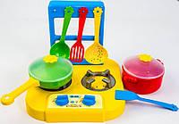 Набор игрушечной посуды столовый Ромашка с плитой 7 элементов