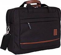 Оригинальная сумка под ноутбук 14-15''  с элементами декоративной отделки 12 л Bagland 44366 черный