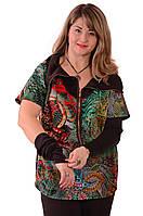 Блузки туники +для полных ,с рукавами трансформер ,Бл 049