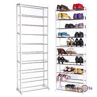 Подставка для обуви shoe rack portable n easy to assemble металлическая на 30 пар