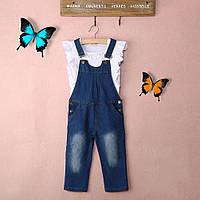 Детский джинсовый комбинезон с топом