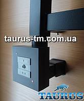 Чёрный кадратный ТЭН с маскировкой провода + управление с кнопками - 2 режима нагрева. Мощность: 120 - 1000Вт.