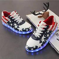 Кроссовки с подсветкой американский флаг