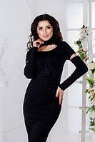 Женское платье с разрезными рукавами