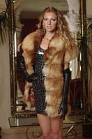 Жилет жилетка из карпатской лисы, поперечка  Short sleeve spliced fox fur vest gilet