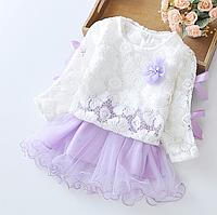 Нарядне плаття з круживами для дівчаток