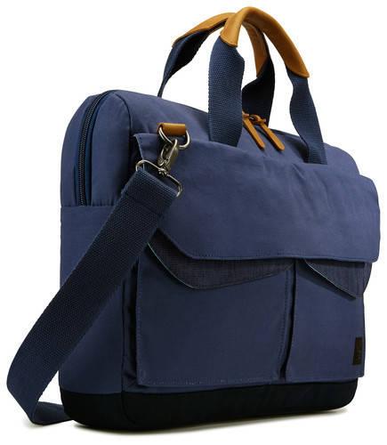 "Стильная сумка для ноутбука CASE LOGIC LODO 15.6""  ATTACHE - LODA115DBL DRESS BLUE 6270352, синяя"