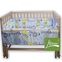 Комплект в детскую кроватку Лялечка из 4 элементов бязь