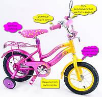 """Детский двухколесный велосипед для девочки Super bike 14"""""""