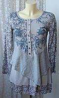 Туника платье женское летнее модное оригинальное мини бренд Izabel London р.42 6224