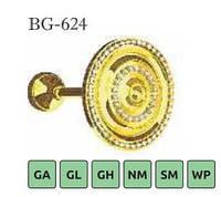 Ухват Подхват металлический хрустальный Sundeco для карниза 28-BG-624